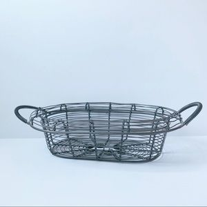 Silver Wire Basket with Handles
